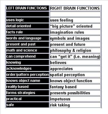 otak kanan vs kiri